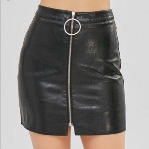 Zaful Faux Leather Mini Skirt Size Small